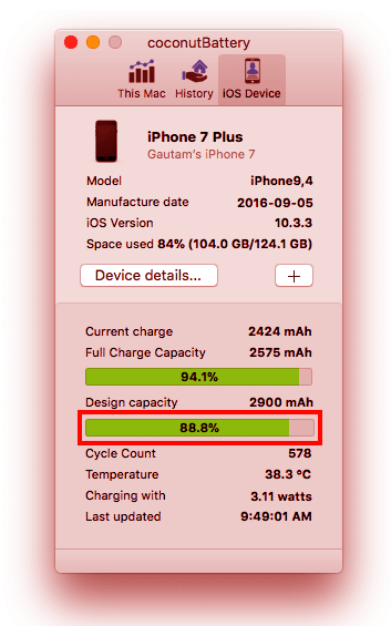 coconutbattery iphone